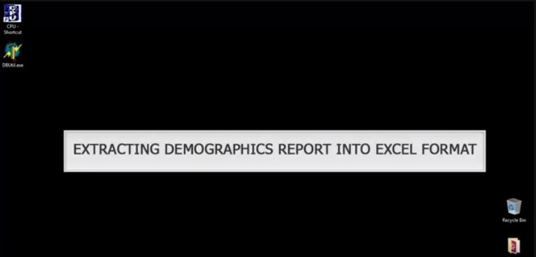 Extracting Demographic Reports