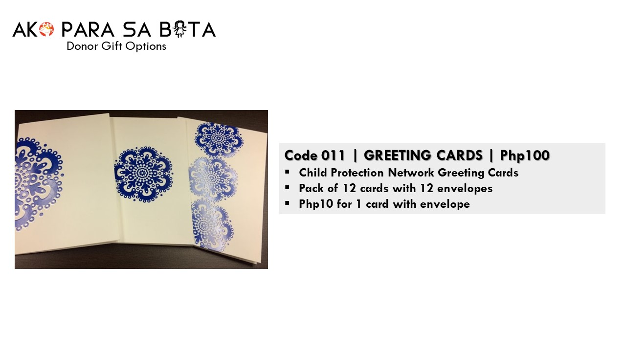 Code 011 - Greeting Cards