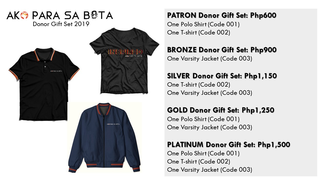 APSB Donor Gift Set Options