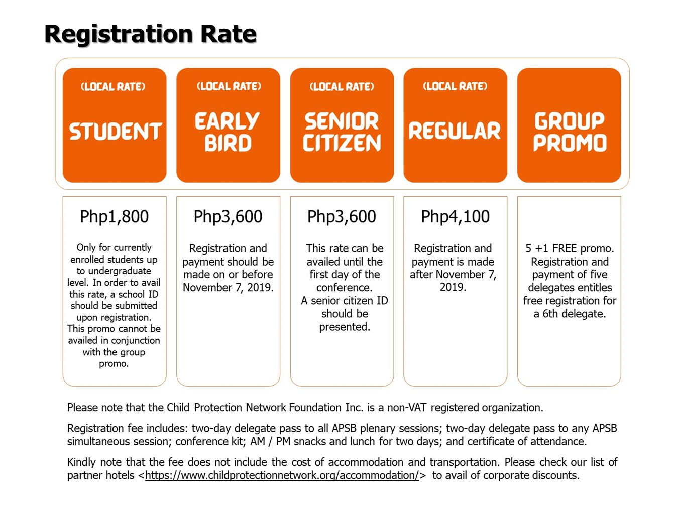 APSB 2019 Registration Rate