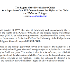 Rights of the Hospitalized